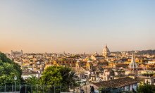 Panoramic View From Pincio Hill, Rome, Italy