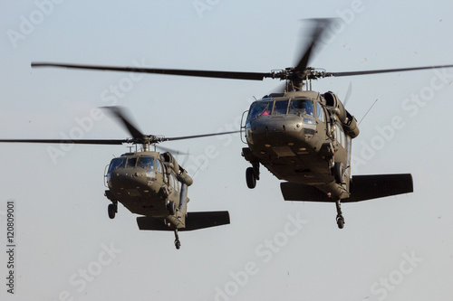 Canvas Prints Helicopter Military helicopters landing