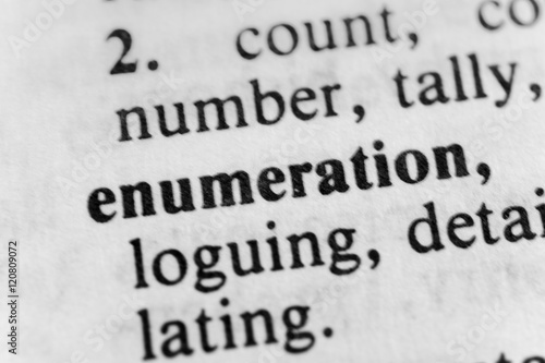 Valokuva  Enumeration