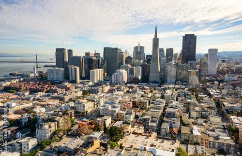 In de dag Los Angeles San Francisco Skyline