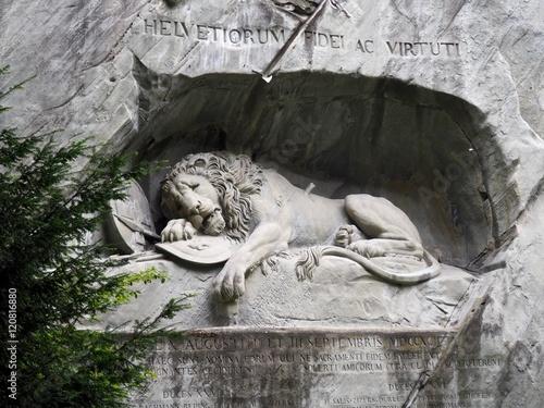 Keuken foto achterwand Berlijn Löwendenkmal in Luzern