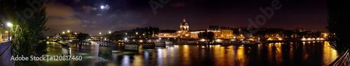 Poster Bridges panoramique du pont des arts de nuit