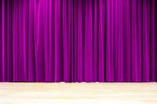 Purple Curtain Stage