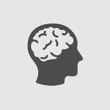 Head With Brain Vector Icon. S...