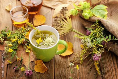 Obraz na plátně herbal tea