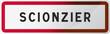 Panneau Scionzier Ville de Haute-Savoie - 74 - Auvergne-Rhône-Alpes -