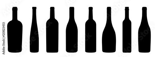 Fototapeta Weinflaschen Icons obraz