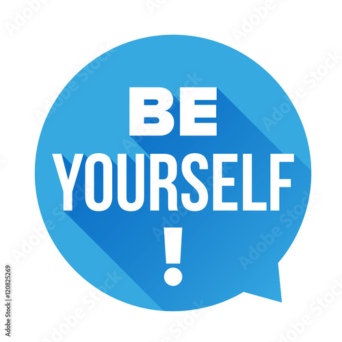 Photo  Be Yourself vector labbel