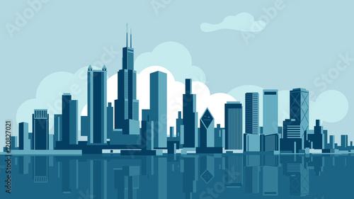Photo  Chicago skyline