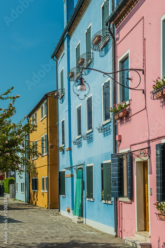 Foto op Plexiglas Cyprus Building landmarks-colorful houses on Burano island,Italy