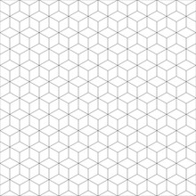 Geometric Cube Seamless Patter...