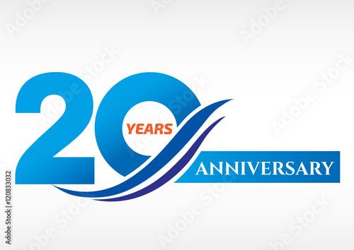 Fotografia  20 years anniversary Template logo