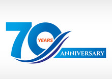 70 Years Anniversary Template ...