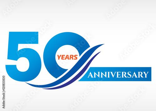 фотография  50 years anniversary Template logo