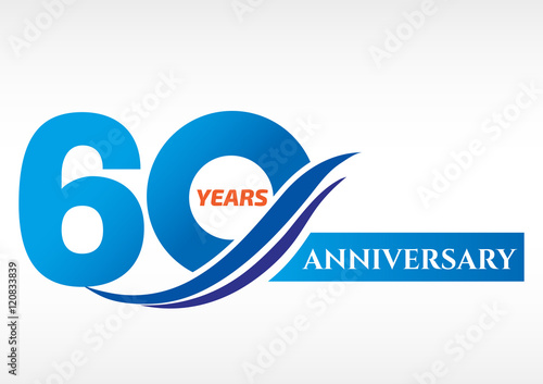 Photographie  60 years anniversary Template logo