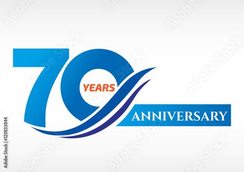 Fotografie, Obraz  70 years anniversary Template logo