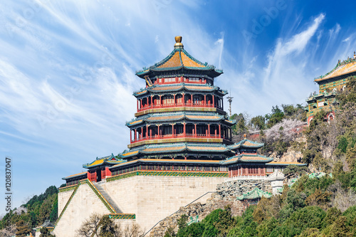 Fotoposter Peking The Summer Palace landscape in Beijing,Chinese imperial garden of the Qing Dynasty