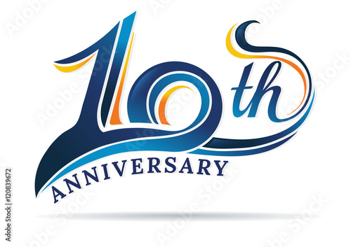 фотография  anniversary emblems 10 in anniversary concept template design