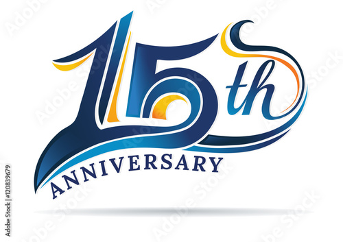 Платно  anniversary emblems 15 in anniversary concept template design