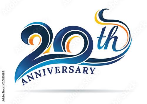 Fotografía  anniversary emblems 20 in anniversary concept template design