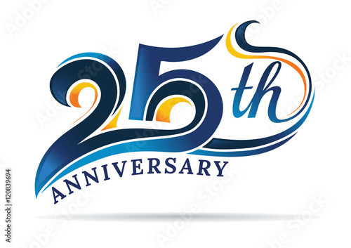 фотография  anniversary emblems 25 in anniversary concept template design
