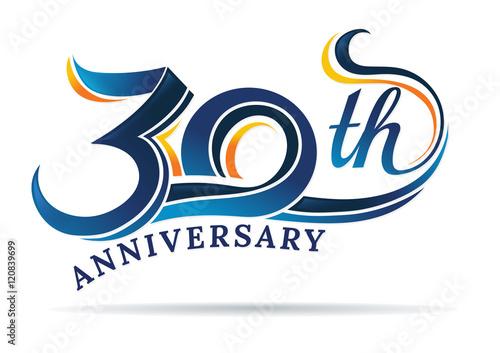 Fotografia  anniversary emblems 30 in anniversary concept template design