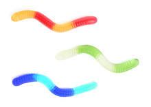 Colorful Jelly Worms Snakes Is...