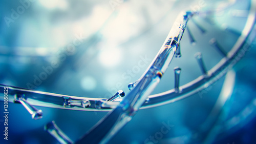 fototapeta na lodówkę 3d illustration of glass model of DNA molecule