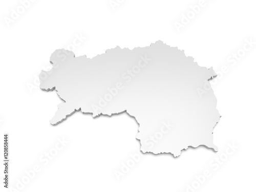 3d Karte Osterreich.3d Illustration Karte Osterreich Steiermark Kaufen Sie