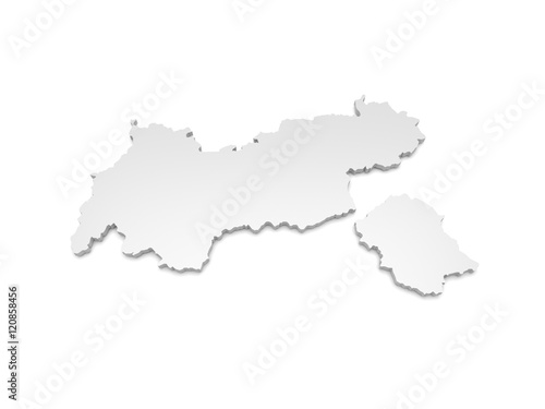3d Karte Osterreich.3d Illustration Karte Osterreich Tirol Buy This Stock