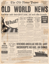 Old Newspaper Design Vector Te...