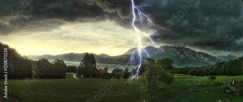 Plakat Burza nad Attersee, Salzburger Land Austria