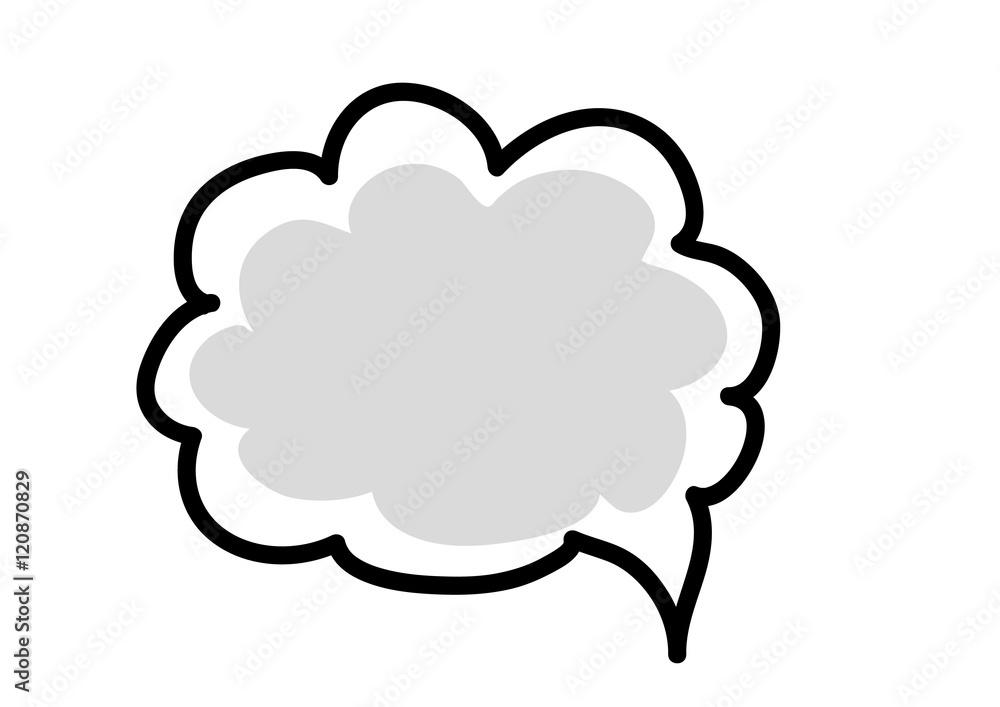 Fototapeta ikona,dymek,chmura