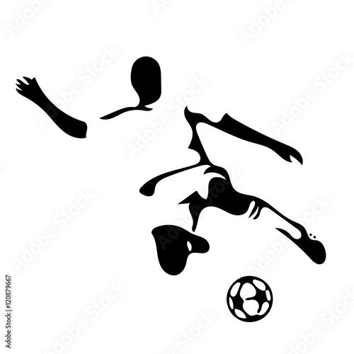 calciatore con pallone Canvas Print