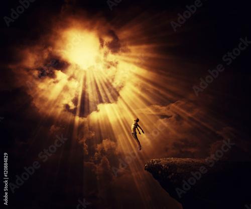 Fényképezés Active boy astral travel, mystical rapture state psychokinesis condition