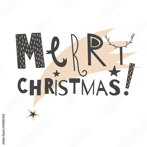 Vector hand drawn lettering sign merry christmas with star trace vector hand drawn lettering sign merry christmas with star trace text design for greetings m4hsunfo
