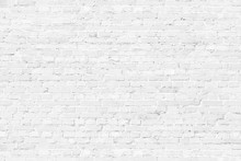 White Texture Brick Wall Backg...