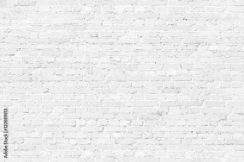 Obraz na plátně White texture brick wall background