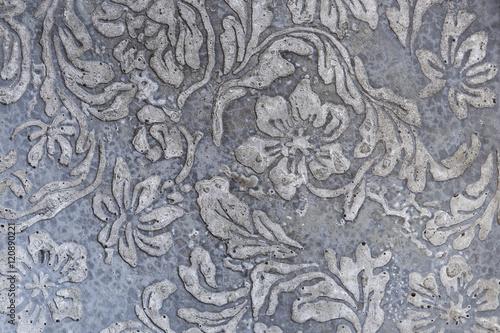 kwiatu-wzor-na-cement-sciany-tle