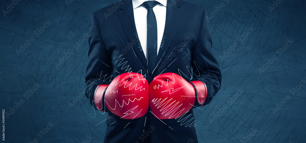 Fototapety, obrazy: Power of business boxing