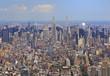 New York City skyline, aerial view, USA