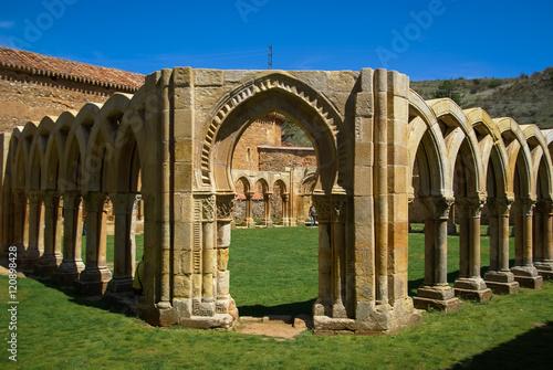 Ruined cloister of San Juan de Duero Monastery in Soria, Castill
