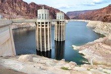Low Water Level, Hoover Dam - Lake Mead