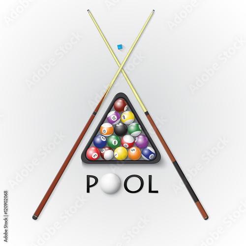 Fotografie, Tablou  Pool billiards background