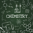 Vector chalk draw chemistry elements