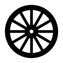 Wagon Wheel Silhouette