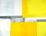 Grey and Yellow Abstract Art Painting - 120920405