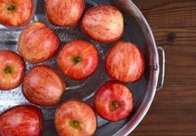 Apple Bobbing Tub Closeup
