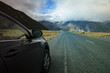 road traveling to aoraki - mt.cook national park important natur