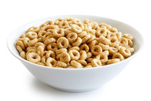 Bowl Of Honey Cheerios Isolate...